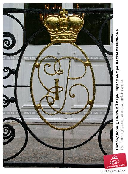 Купить «Петродворец, Нижний парк. Фрагмент решетки павильона», фото № 304138, снято 23 июля 2005 г. (c) Александр Секретарев / Фотобанк Лори