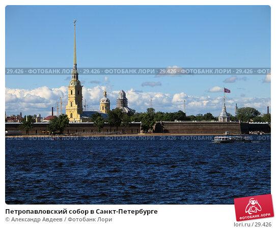 Петропавловский собор в Санкт-Петербурге, фото № 29426, снято 28 июня 2005 г. (c) Александр Авдеев / Фотобанк Лори