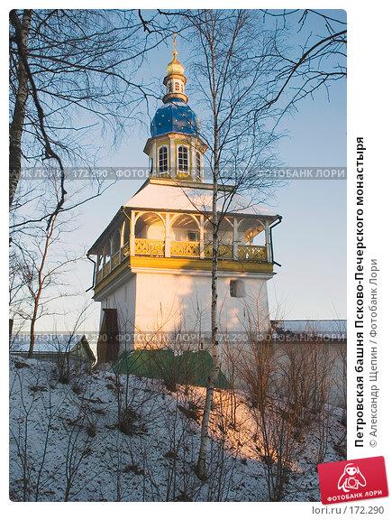 Петровская башня Псково-Печерского монастыря, эксклюзивное фото № 172290, снято 4 января 2008 г. (c) Александр Щепин / Фотобанк Лори