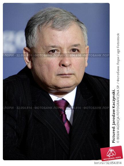 Pictured: Jaroslaw Kaczynski. Редакционное фото, фотограф BE&W AGENCJA FOTOGRAFICZNA SP. / age Fotostock / Фотобанк Лори