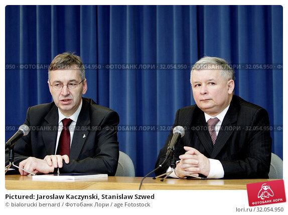 Pictured: Jaroslaw Kaczynski, Stanislaw Szwed. Редакционное фото, фотограф bialorucki bernard / age Fotostock / Фотобанк Лори