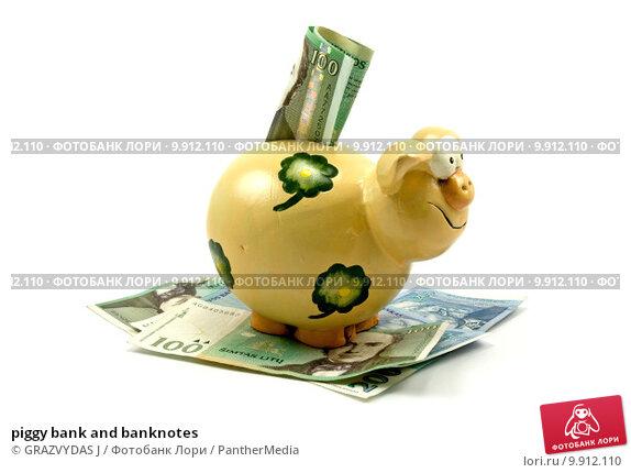 Купить «piggy bank and banknotes», фото № 9912110, снято 20 февраля 2020 г. (c) PantherMedia / Фотобанк Лори