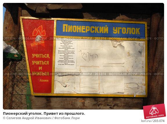 Купить «Пионерский уголок. Привет из прошлого.», фото № 203074, снято 2 февраля 2008 г. (c) Селигеев Андрей Иванович / Фотобанк Лори