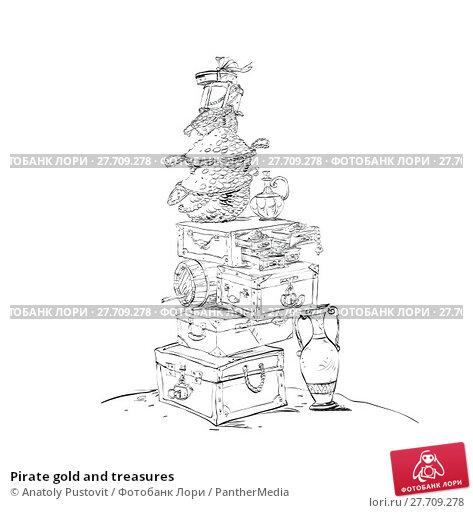 Купить «Pirate gold and treasures», иллюстрация № 27709278 (c) PantherMedia / Фотобанк Лори