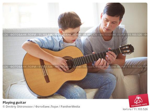 Купить «Playing guitar», фото № 11103526, снято 24 февраля 2019 г. (c) PantherMedia / Фотобанк Лори