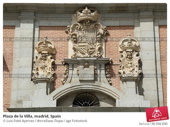 Plaza de la Villa, madrid, Spain. Стоковое фото, фотограф Luis Fidel Ayerves / age Fotostock / Фотобанк Лори