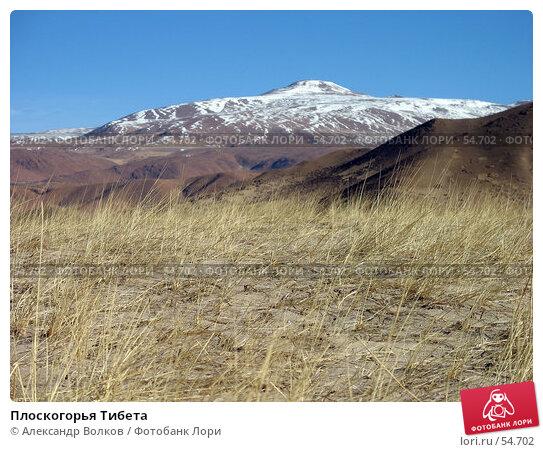 Плоскогорья Тибета, фото № 54702, снято 1 мая 2006 г. (c) Александр Волков / Фотобанк Лори