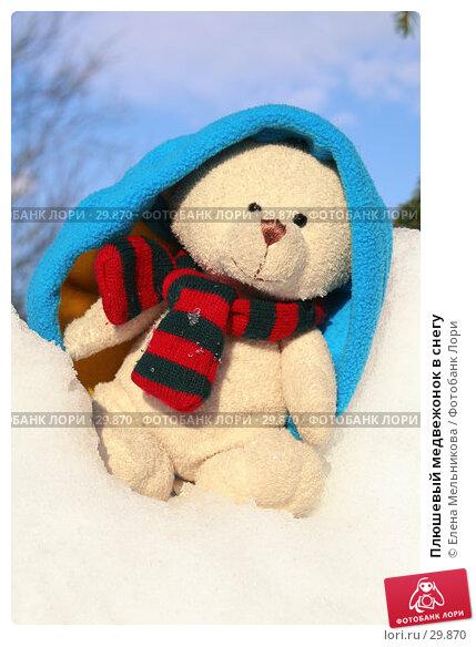 Плюшевый медвежонок в снегу, фото № 29870, снято 28 марта 2007 г. (c) Елена Мельникова / Фотобанк Лори