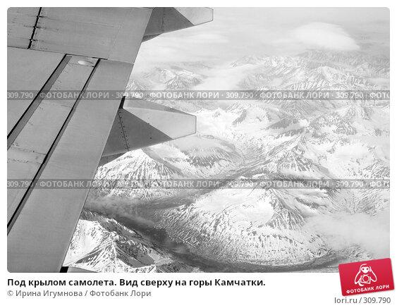 Под крылом самолета. Вид сверху на горы Камчатки., фото № 309790, снято 3 июня 2008 г. (c) Ирина Игумнова / Фотобанк Лори