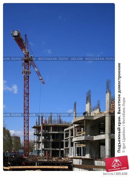 Подъемный кран. Высотное домостроение, фото № 265638, снято 25 апреля 2008 г. (c) Igor Lijashkov / Фотобанк Лори