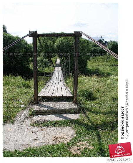 Подвесной мост, фото № 275242, снято 2 августа 2006 г. (c) Дмитрий Кобзев / Фотобанк Лори