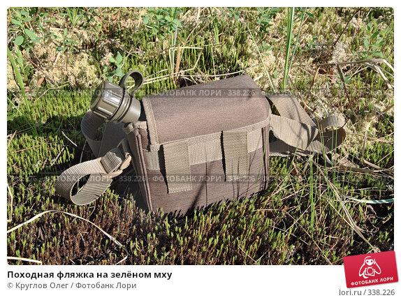 Походная фляжка на зелёном мху, фото № 338226, снято 21 июня 2008 г. (c) Круглов Олег / Фотобанк Лори