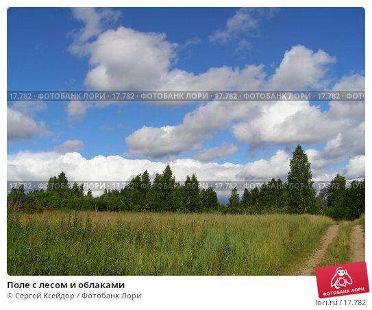 Поле с лесом и облаками, фото № 17782, снято 6 июля 2006 г. (c) Сергей Ксейдор / Фотобанк Лори