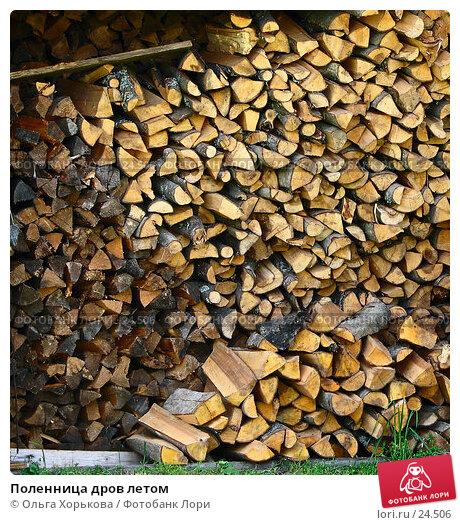 Поленница дров летом, фото № 24506, снято 25 июля 2006 г. (c) Ольга Хорькова / Фотобанк Лори
