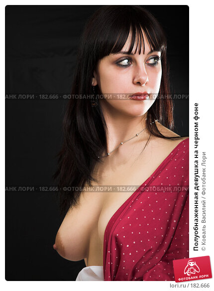 Полуобнаженная девушка на черном фоне, фото № 182666, снято 9 января 2007 г. (c) Коваль Василий / Фотобанк Лори