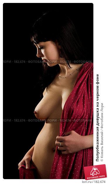 Полуобнаженная девушка на черном фоне, фото № 182674, снято 9 января 2007 г. (c) Коваль Василий / Фотобанк Лори