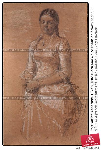 Купить «Portrait of Frederikke Tuxen, 1882, Black and white chalk, on brown paper, Sheet: 51 3/8 × 30 1/2 in. (130.5 × 77.5 cm), Drawings, Peder Severin Krøyer (Danish, Stavanger 1851–1909 Skagen)», фото № 32018074, снято 27 апреля 2017 г. (c) age Fotostock / Фотобанк Лори
