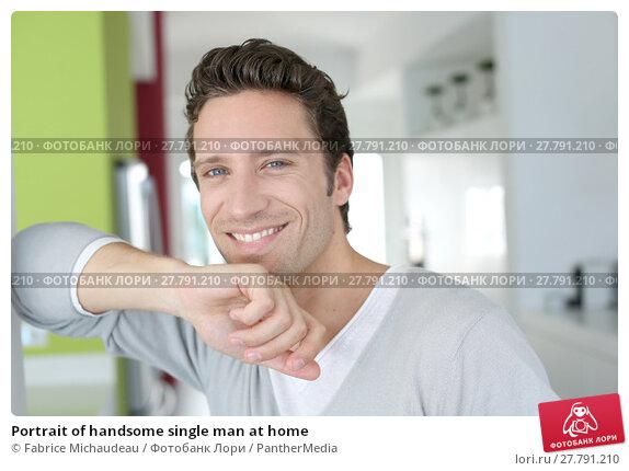 Купить «Portrait of handsome single man at home», фото № 27791210, снято 26 февраля 2018 г. (c) PantherMedia / Фотобанк Лори