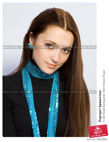 Портрет брюнетки, фото № 202830, снято 2 декабря 2007 г. (c) Евгений Батраков / Фотобанк Лори