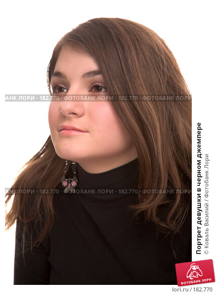 Портрет девушки в черном джемпере, фото № 182770, снято 2 ноября 2006 г. (c) Коваль Василий / Фотобанк Лори