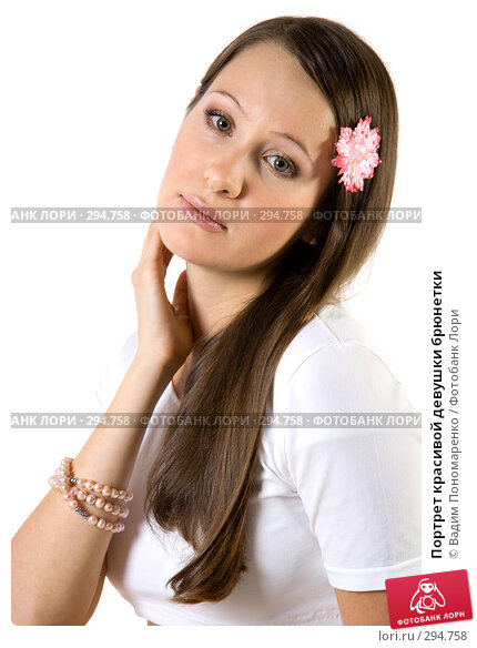 Портрет красивой девушки брюнетки, фото № 294758, снято 22 сентября 2007 г. (c) Вадим Пономаренко / Фотобанк Лори