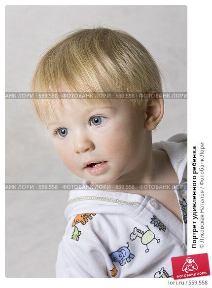 Купить «Портрет удивленного ребенка», фото № 559558, снято 13 ноября 2008 г. (c) Лисовская Наталья / Фотобанк Лори