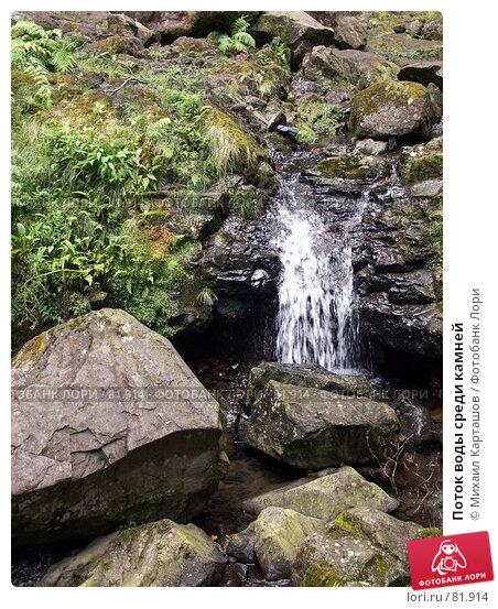 Купить «Поток воды среди камней», эксклюзивное фото № 81914, снято 2 августа 2007 г. (c) Михаил Карташов / Фотобанк Лори