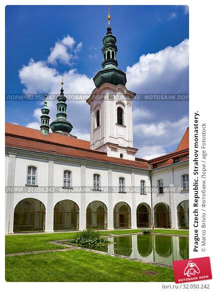 Prague Czech Republic. Strahov monastery. Стоковое фото, фотограф Marco Brivio / age Fotostock / Фотобанк Лори