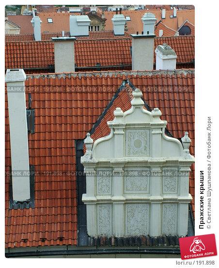 Пражские крыши, фото № 191898, снято 7 мая 2006 г. (c) Светлана Шушпанова / Фотобанк Лори