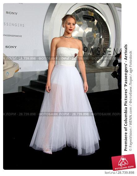 Купить «Premiere of Columbia Pictures' 'Passengers' - Arrivals Featuring: Jennifer Lawrence Where: Westwood, California, United States When: 15 Dec 2016 Credit: FayesVision/WENN.com», фото № 28739898, снято 15 декабря 2016 г. (c) age Fotostock / Фотобанк Лори