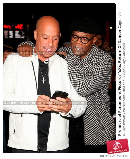 Купить «Premiere of Paramount Pictures' 'xXx: Return Of Xander Cage' - Arrivals Featuring: Vin Diesel, Samuel L Jackson Where: Hollywood, California, United States...», фото № 28735338, снято 19 января 2017 г. (c) age Fotostock / Фотобанк Лори