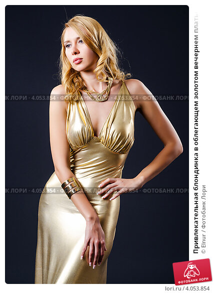 Блондинки в золотом платье