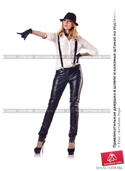 Эротика девушки в брюках на подтяжках