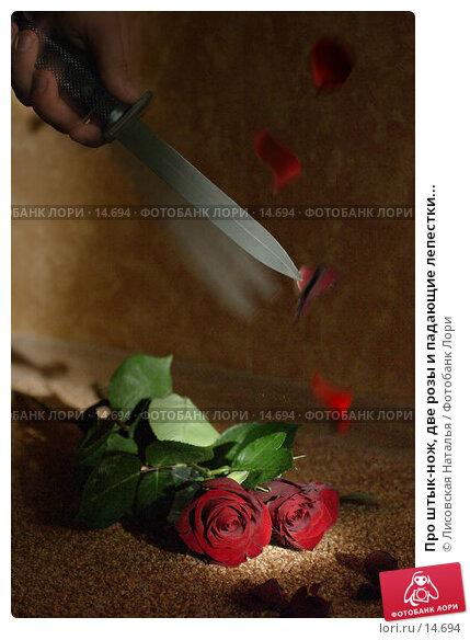 Про штык-нож, две розы и падающие лепестки..., фото № 14694, снято 27 июня 2005 г. (c) Лисовская Наталья / Фотобанк Лори