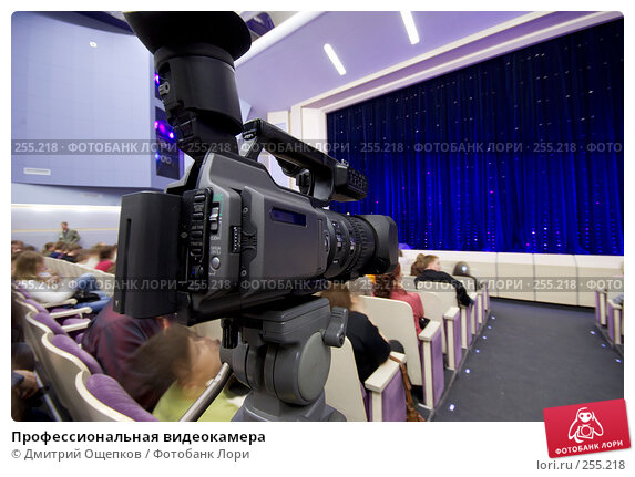 Купить «Профессиональная видеокамера», фото № 255218, снято 12 апреля 2008 г. (c) Дмитрий Ощепков / Фотобанк Лори