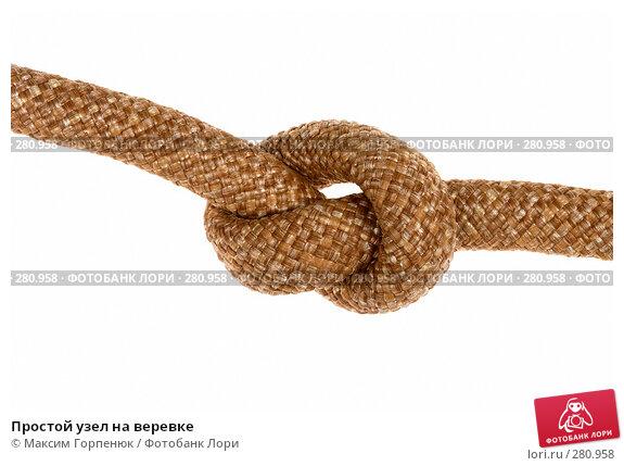 Простой узел на веревке, фото № 280958, снято 9 сентября 2007 г. (c) Максим Горпенюк / Фотобанк Лори