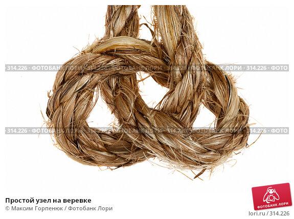 Простой узел на веревке, фото № 314226, снято 9 сентября 2007 г. (c) Максим Горпенюк / Фотобанк Лори
