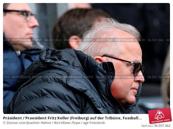 Präsident / Praesident Fritz Keller (Freiburg) auf der Tribüne, Fussball... Стоковое фото, фотограф Zoonar.com/Joachim Hahne / age Fotostock / Фотобанк Лори