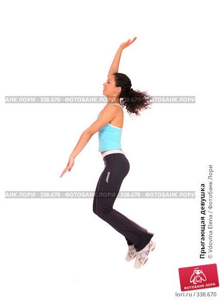 Прыгающая девушка, фото № 338670, снято 10 мая 2008 г. (c) Vdovina Elena / Фотобанк Лори