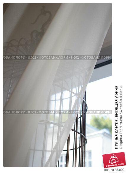 Птичья клетка, висящая у окна, эксклюзивное фото № 8002, снято 12 августа 2006 г. (c) Ирина Терентьева / Фотобанк Лори