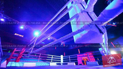Купить «Пустой ринг», видеоролик № 3738654, снято 15 июля 2011 г. (c) Losevsky Pavel / Фотобанк Лори