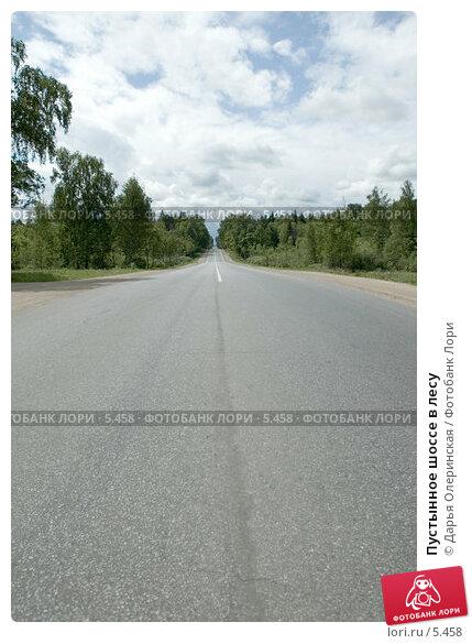 Купить «Пустынное шоссе в лесу», фото № 5458, снято 11 июня 2006 г. (c) Дарья Олеринская / Фотобанк Лори