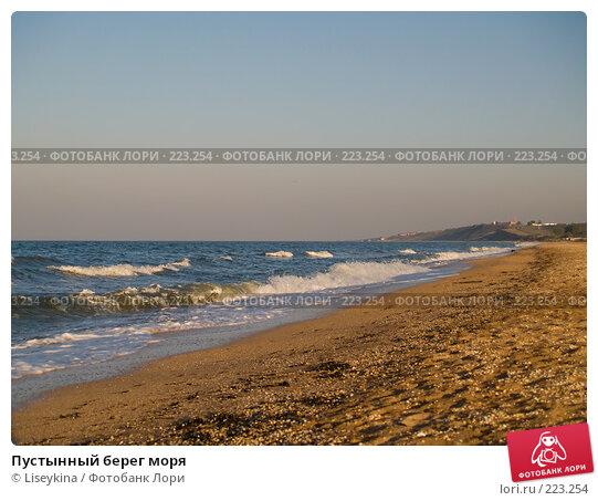 Пустынный берег моря, фото № 223254, снято 28 сентября 2007 г. (c) Liseykina / Фотобанк Лори