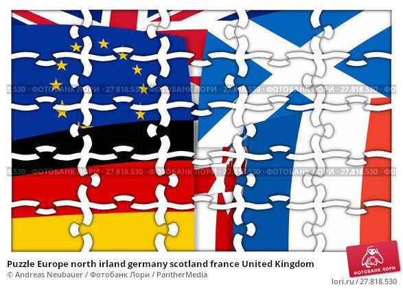 Купить «Puzzle Europe north irland germany scotland france United Kingdom», фото № 27818530, снято 20 октября 2018 г. (c) PantherMedia / Фотобанк Лори