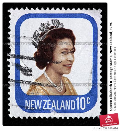 Queen Elizabeth II, postage stamp, New Zealand, 1979. (2010 год). Редакционное фото, фотограф Ivan Vdovin / age Fotostock / Фотобанк Лори