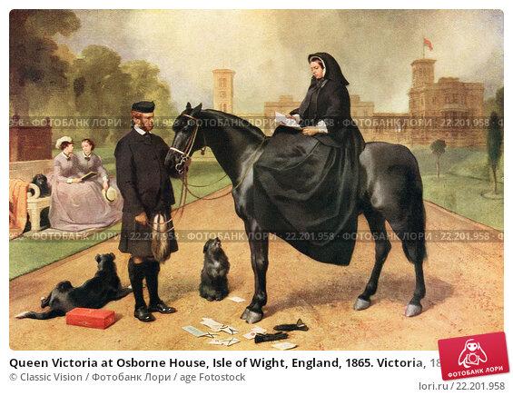 "Купить «Queen Victoria at Osborne House, Isle of Wight, England, 1865. Victoria, 1819 â. "" 1901, Queen of the United Kingdom of Great Britain and Ireland. She...», фото № 22201958, снято 23 марта 2019 г. (c) age Fotostock / Фотобанк Лори"