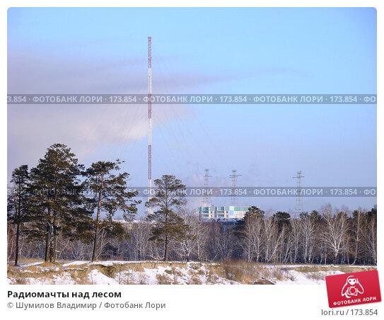 Радиомачты над лесом, фото № 173854, снято 12 января 2008 г. (c) Шумилов Владимир / Фотобанк Лори