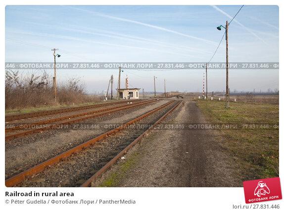 Купить «Railroad in rural area», фото № 27831446, снято 20 февраля 2019 г. (c) PantherMedia / Фотобанк Лори