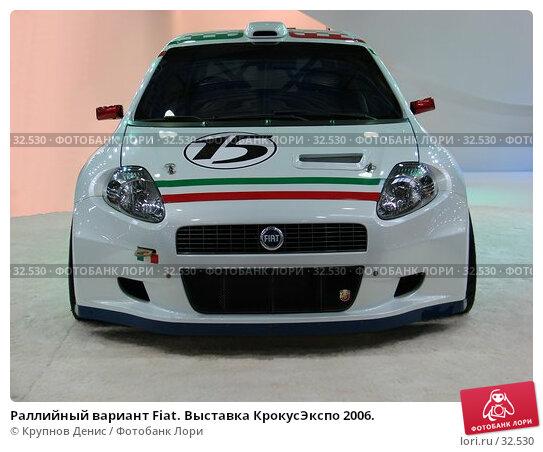 Раллийный вариант Fiat. Выставка КрокусЭкспо 2006., фото № 32530, снято 6 сентября 2006 г. (c) Крупнов Денис / Фотобанк Лори
