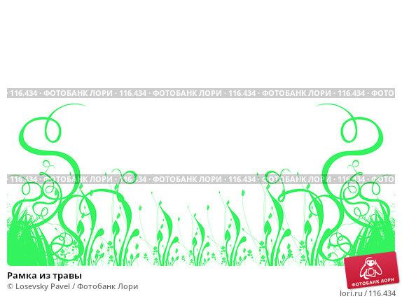 Купить «Рамка из травы», иллюстрация № 116434 (c) Losevsky Pavel / Фотобанк Лори